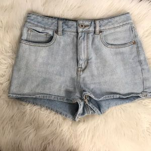 High Wasited Mom Jean Shorts